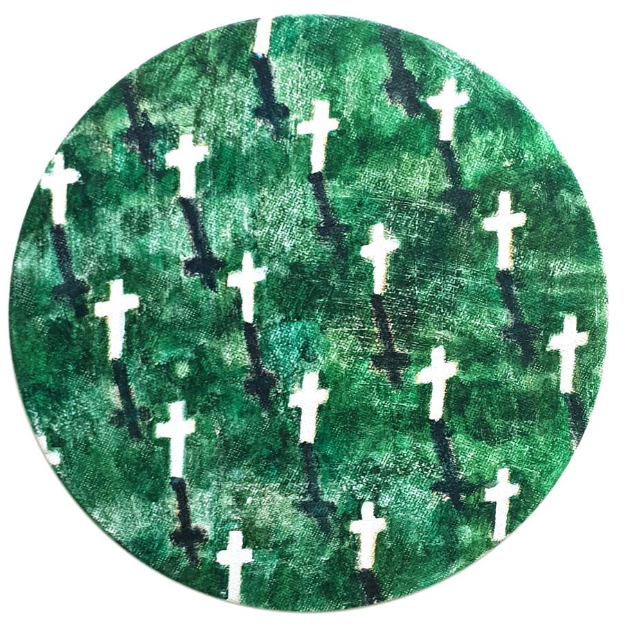 Circle Pattern 1, acrylic on canvas, d.18㎝, 2020.jpg