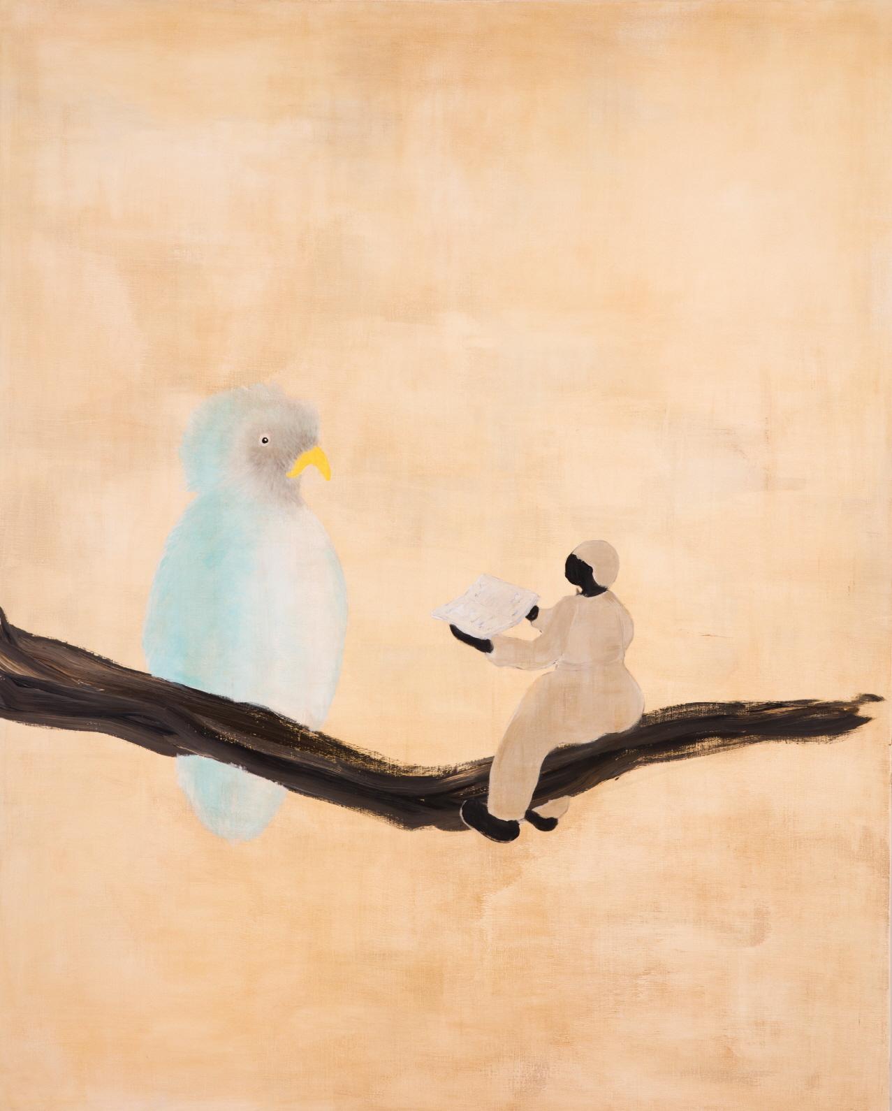 윤정원, 책 읽어주는 새, 180x130cm, Acrylic on canvas, 2019.jpg