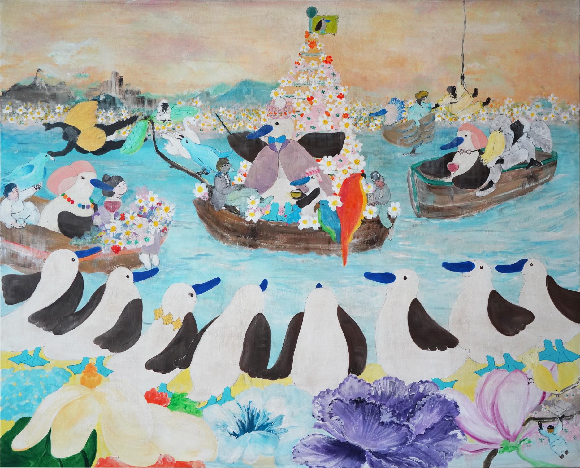 윤정원, 쾌락의 노래 ll, 130x180cm, Acrylic on canvas, 2020.jpg